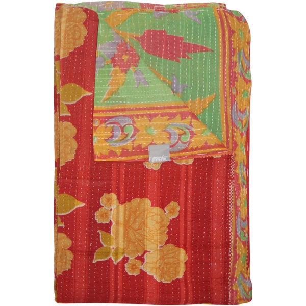 Tj Hotel Kantha Rectangular Throw