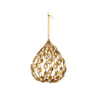 Sage & Co 7-inch Pearl Ball Christmas Ornament (Pack of 2)