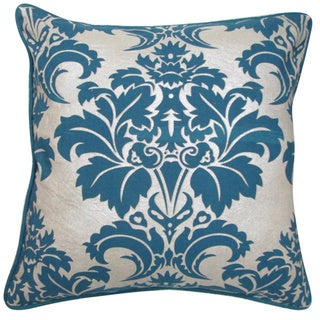 Fleur Blue Feather and Down Filled Decorative Pillow