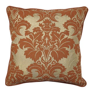 Fleur Rust Feather and Down Filled Decorative Pillow