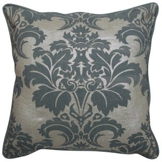 Fleur Grey Feather and Down Filled Decorative Pillow