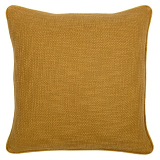 Mustard Reversible Feather and Down Filled Decorative Pillow