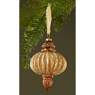 Sage & Co 5.25-inch Glass Onion Drop Christmas Ornament (Pack of 12)