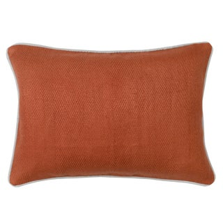 Geneva Rust Feather and Down Filled Decorative Pillow