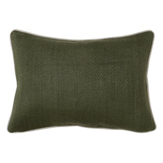Geneva Leaf Green Feather and Down Filled Decorative Pillow