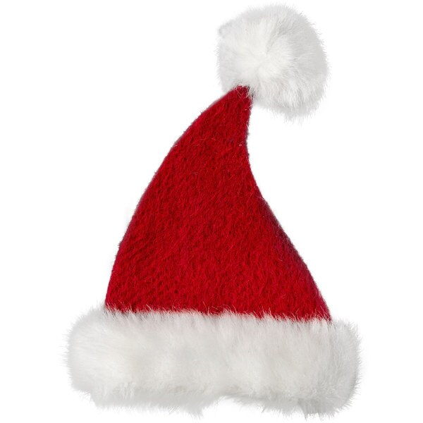 Sage & Co 7-inch Red And White Hanging Christmas Hat (Pack of 12)
