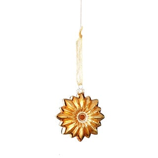 Sage & Co 3.75-inch Starburst Glass Chlristmas Ornament (Pack of 12)