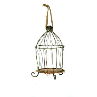 Sage & Co 5-inch x 8.5-inch Wire Birdcage Christmas Ornament