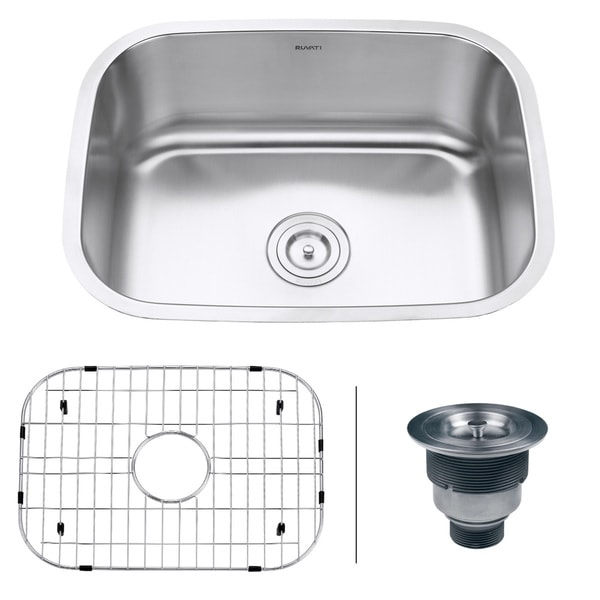 Ruvati RVM4132 Undermount 16-gauge 24-inch Kitchen Sink - 16836364 ...