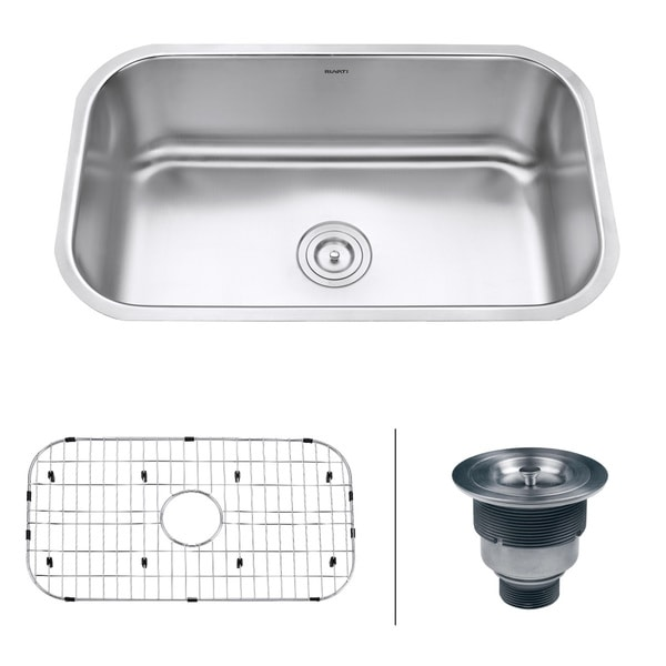 16 Gauge Undermount Kitchen Sink : Ruvati RVM4250 Undermount 16-gauge 30-inch Kitchen Sink - Overstock ...