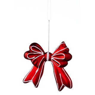 Sage & Co 3.75-inch Shatterproof Red/White Christmas Bow Ornament (Pack of 24)