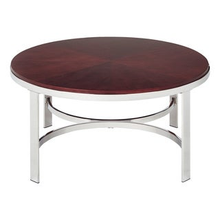 Alexandria Round Cherry Finish Coffee Table