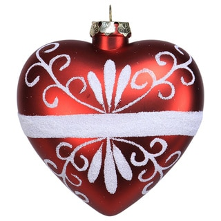 Sage & Co 3.5-inch Shatterproof Patern Heart Christmas Ornament (Pack of 24)