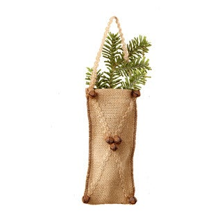 Sage & Co 7.5-inch Burlap Gift Bag Christmas Oranament (Pack of 12)