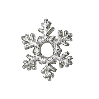 Sage & Co 4.5-inch Platinum Glittered Snowflake Christmas Ornament (Pack of 12)