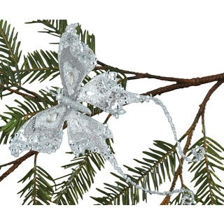 Sage & Co. 9-inch Butterfly Clip-on Christmas Ornament from the David Tutera Home Collection