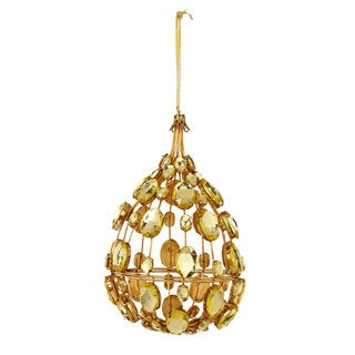 Sage & Co 7-inch Jeweled Medallion Drop Christmas Ornament (Pack of 6)