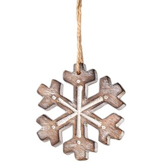 Sage & Co 4-inch Carved Snowflake Christmas Ornament (Pack of 12)