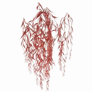 Sage & Co 24-inch Red Glittered Willow Bush (Pack of 12)