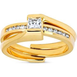 14K Yellow Gold Princess-cut Diamond Bridal Set (I-J, I1-I2)