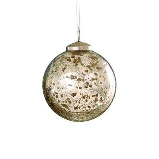 Sage & Co 3-inch Antique Mercury Glass Ball Christmas Ornament (Pack of 12)