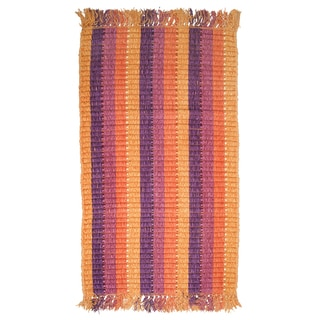 Royal Classics Ribbed Orange Striped Accent Rug (1'9 x 2'10)