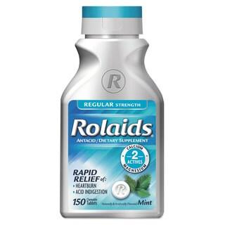 Rolaids Regular Strength Heartburn Mint Flavor Tablets (Bottle of 150)