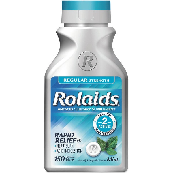 Rolaids Regular Strength Heartburn Mint Flavor Tablets (Bottle of 150)