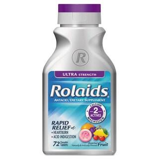 Rolaids Ultra Strength Heartburn Fruit Flavor Tablets (Bottle of 72)