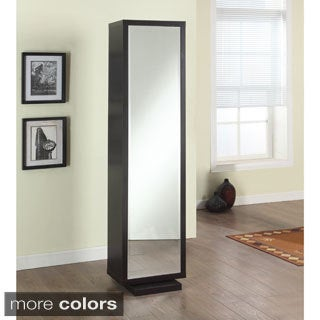 Artiva USA Bella Home Deluxe 71-Inch Merlot Full-length Mirror and Swivel Cabinet/Shelving Unit