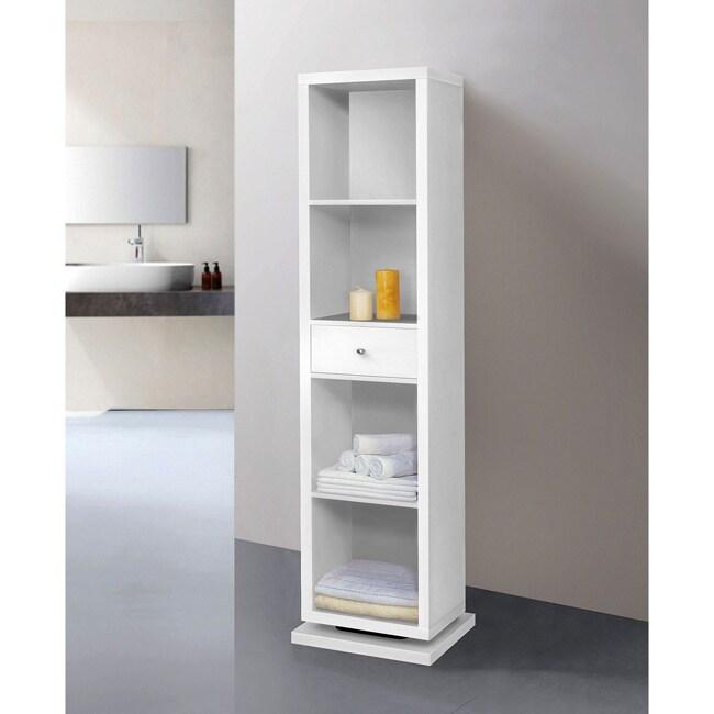 white full length mirror and shelving unit deluxe swivel cabinet