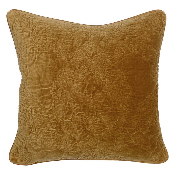 Sable Mustard 20-inch Decorative Throw Pillow