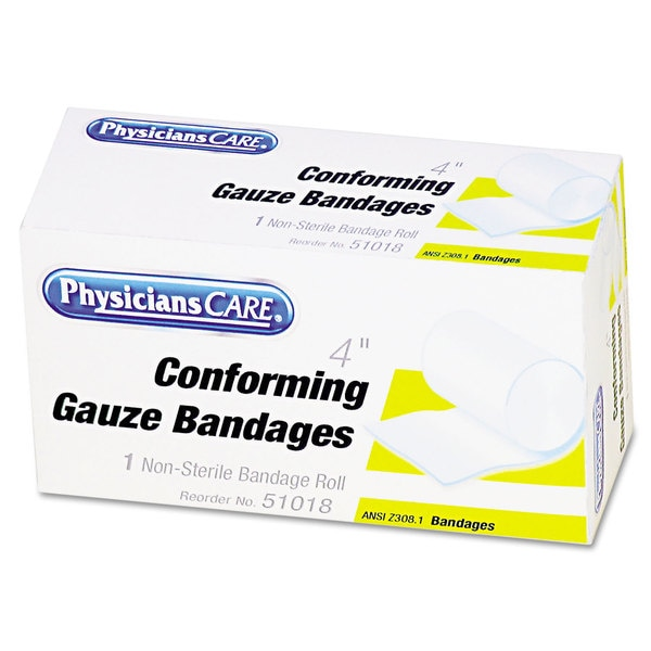 "PhysiciansCare First Aid Conforming Gauze Bandage, 4"" wide"