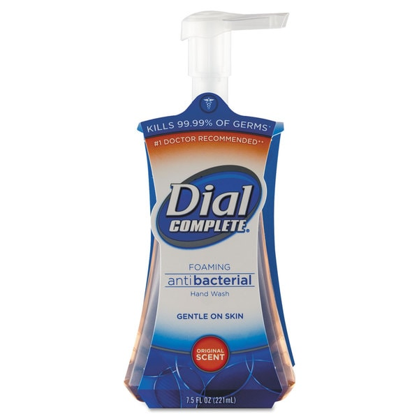 Dial Professional Antimicrobial Foaming Hand Soap, Liquid, Fresh Scent, 7.5oz Pump Bottle