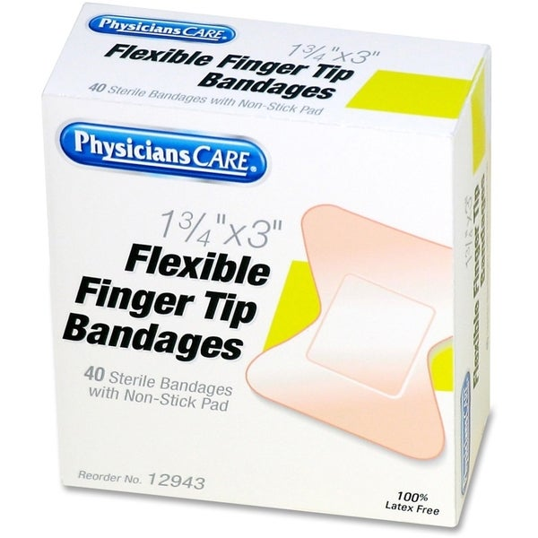 PhysiciansCare First Aid Fingertip Bandages, 40/Box