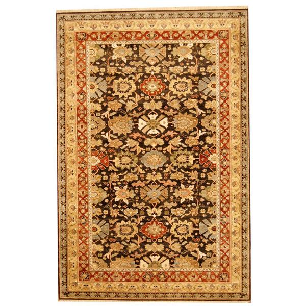 Herat Oriental Indo Hand-knotted Mahal Wool Rug (6' x 9') 14420983