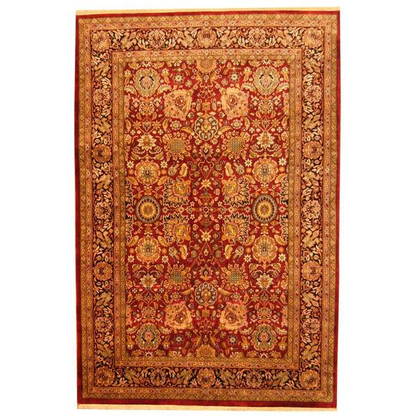Herat Oriental Indo Hand-knotted Mahal Wool Rug (6' x 9') 14420996
