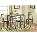 Simple Living Black 5-piece Silvia Metal Counter-height Dining Set