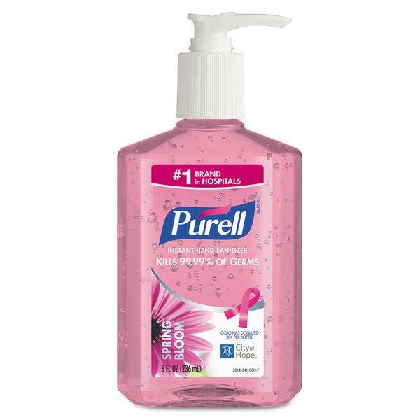 PURELL Spring Bloom Instant Hand Sanitizer, 8oz Pump Bottle, Pink