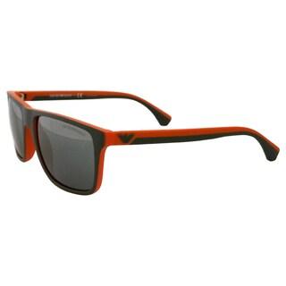 Emporio Armani Men's Grey/ Rubber Orange Sunglasses