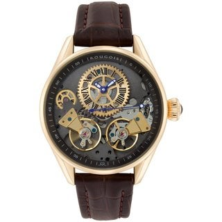 Rougois Men's Rose Gold Regal Double Escapement Automatic Watch