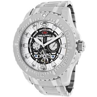 Seapro Men's SP3310 'Tidal PX1' Round Stainless Steel Skeleton Watch