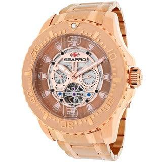 Seapro Men's SP3311 'Tidal PX1' Stainless Steel Rose Goldtone Skeleton Watch