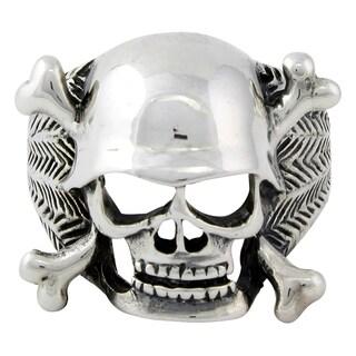 Sterling Silver Danger Vigilante Skull Ring