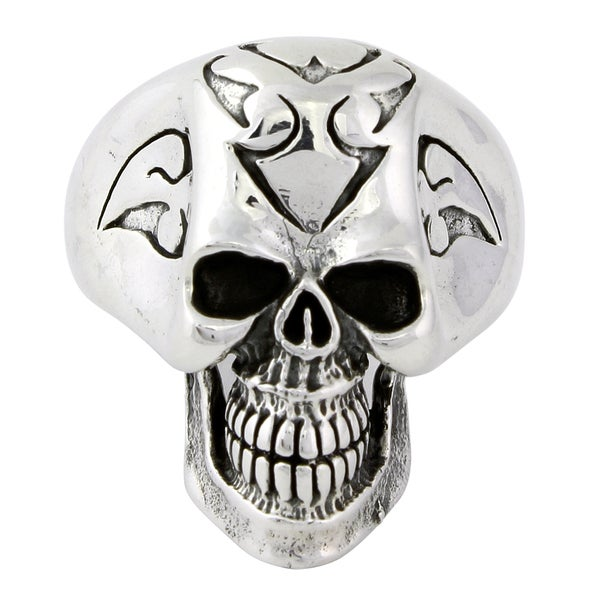 Sterling Silver Hell Breed Skull Ring