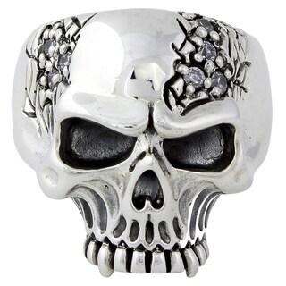 Sterling Silver Galloping Vampire Skull Ring