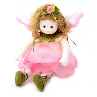 Pink Flower Fairy Collectible Musical Doll