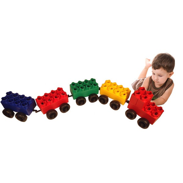 Jumbo Blocks and Wheels 46-piece Train Set Blocks