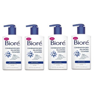 Biore Combination Skin Balancing Cleanser Deep Cleaning 677 Fluid-ounce (Pack of 4)
