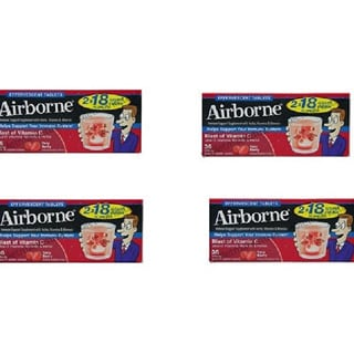 Airborne Immune Support Supplement Very Berry 36 Effervescent Tablets (Pack of 4)